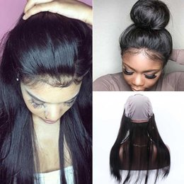 Wholesale Lace Front Frontal Closure - 360 lace frontal human hair half wigs with baby hair human hair lace front wigs black women lace front wigs
