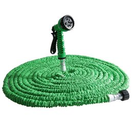 Wholesale Expandable Tube - Watering Irrigation Garden Hoses Reels New 25FT-100FT Garden House Expandable Flexible Latex Tube Water Hose Pipe With 7 in 1 Spray Gun