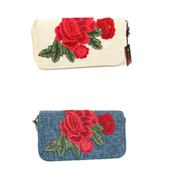 Wholesale Embroidery Wallets - Newly peony wallet China Embroidery wallets tranditional skill purse Clutch Bag party bag National wallets card holder wallets Q9