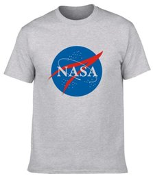 Wholesale National Direct - Factory direct U.S. National Aeronautics and Space Administration NASA space universe science fiction foreign trade round cotton men's T-shi