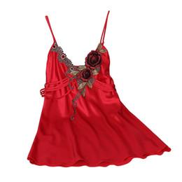 Wholesale Hot Women Nightdress - Wholesale- Summer Women Sexy Nightwear Silk Robe Sleepwear Nightdress Nightgown Dress Hot Sale