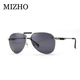 Wholesale Vacuum Frame - Wholesale- MIZHO Brand HD Visual Outdoor Travel Use Fishing Sunglasses Men Polarized UV400 Strong Stainless Steel Frame IP Vacuum Plating