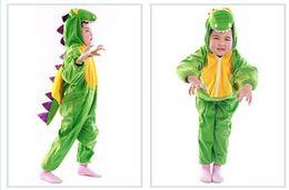 Wholesale Funny Costume Kids - Kids Dinosaur Costume Crocodile Costume Jumpsuit Animals Costumes Kids Cosplay Funny Dress Boys Dinosaur Suit Costume Dinosaur