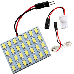 Wholesale Interior Car Light Adapters - Panel 5730 20 SMD 28 SMD 36 SMD 40SMD Car LED Light 12V Dome Light Interior Lamp With T10 + Festoon Adapters Reading Lamp