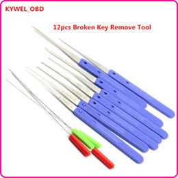 Wholesale Handle Sets Qualities - High Quality KLOM 12 PCS Color Blue Fold Pick Tool Broken Key Remove Auto Locksmith Tool Key Extractor Hardware Handle DIY Tools