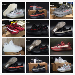 "Wholesale Winter Season Boy - ""Angel's Gift"" New SPLY 350 Boost V2 Boost For Baby Kids Children Kanye West Season 3 Boys Girls Classic Black Red White Black Size 9C-3Y"