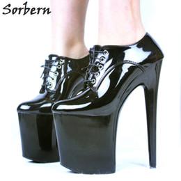 piattaforma dell'alto tallone sesso Sconti Sorbern 2018 Womens Shoes Nightclubs Super High 20cm Tacco a spillo Piattaforma Scarpe a stiletto Stringate da ballo Fetish Sex Party Pompe Altri colori