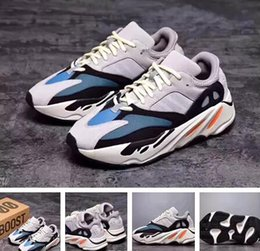 Wholesale Fabric Printing Designs - 2017 High Quality Wave Runner 700 Real Boost Womens Mens Running Shoes Design By Kanye West Season5 700s Sneakers size 36-46 Christmas gift