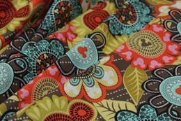 Wholesale Diy Cloth Fabric - VB Retro Printed Floral 100% Cotton Fabric for Dress Handmade DIY, Mickey Cartoon Cloth