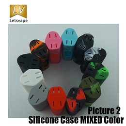 Wholesale Sleeve Boxes - Silicone Case Colorful Sleeve Skin For Wismec Reuleaux RX200s cells 200W TC Box Mod DHL free