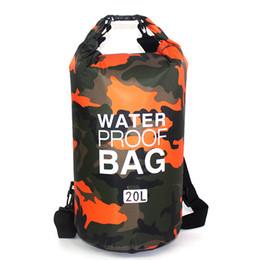 Wholesale Dry Bag Rafting - Outdoor Polyester Waterproof Bag Rafting Sports Kayaking Canoeing Swimming Bag 20L
