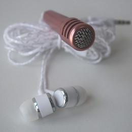 Wholesale Apple Iphone Pieces One - 2017 New mobile phone microphone with headphones one-piece perfume capacitance sing karaoke treasure mini microphone