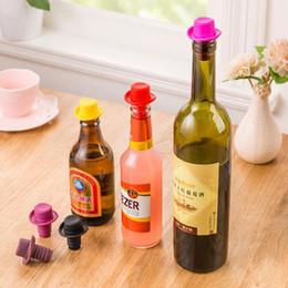 Wholesale Bar Pour Spouts - Silicone Wine Bottle Stoppers Keep Vacuum Sealed Kitchen Bar Tools Spout Liquor Flow Stopper Pour Cap Bottle Cover ZA3280