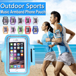 Wholesale Iphone Waterproof Cell Phone - For Iphone 7 6 6s Plus Universal Armband Waterproof Sports Running Case bag workout Armbands Holder Pouch For Samsung Cell Mobile Phone