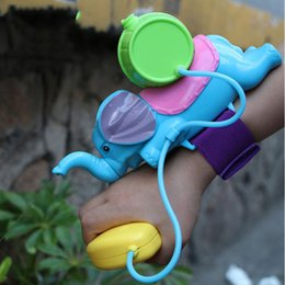 Wholesale Wholesale Elephant Plastic Toys - Elephant Water Blaster Children Favorite Summer Beach toys Educational Water Fight Pistol Swimming Wrist Water Guns Free Delivery