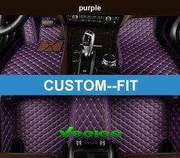 Wholesale Carpet Set Audi - Veeleo+ Custom Fit - 6 Colors Leather Car Foot Floor Mats for Audi R8 TT TTS Waterproof Anti-slip 3D carpet Front & Rear Liner