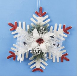 Wholesale Resin Craft Souvenir - Resin Hang Christmas Ornaments With Snowflake As Craft Souvenir For Personalized Gifts or Home Decoration Luxury Snowflake