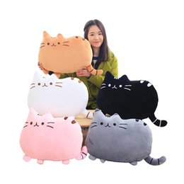 Wholesale Cat Doll Pillow - 40*30cm plush toys stuffed animal doll toy pusheen Kawaii Brinquedos Pusheen cat Pillow Biscuits Kids Toys Peluche