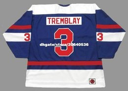 Wholesale Wha Hockey Jersey - custom Throwback Mens J.C. TREMBLAY Quebec Nordiques 1973 WHA Throwback Retro Hockey Jersey