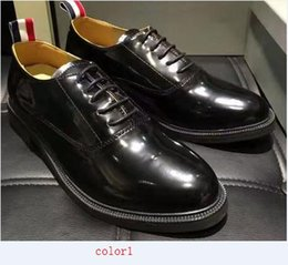 Wholesale Tb Flats - top quality men tb shoes One of the most popular leather men's shoes bullock dress shoes eu38-44 size free shipping