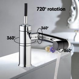 Wholesale Sensor Faucets Basin - Wholesale- Special New Kitchen Sink Swivel 360 Temperature Sensor Chrome Tap Basin Deck Torneira Cozinha Mixer Faucet 92420A 5
