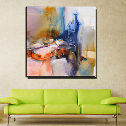 Wholesale Guitar Modern Art Painting - ZZ1010 modern abstract canvas art abstract guitar still life canvas oil art painting for liivngroom bedroom decoration unframed