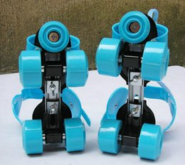 Wholesale Rowing Shoes - Action Sports Inline & Roller Skates Adult Child Currency Adjustable Double Row Roller Shoes Skateboard Metal Stent