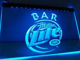 Wholesale Miller Lite Beer Neon Light - LA406b- Miller Lite Bar Beer LED Neon Light Sign
