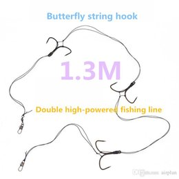 Wholesale Fishing Strings - 1pcs of boat fishing double high horsepower butterfly string hook fish line fishing accessories pesca hooks