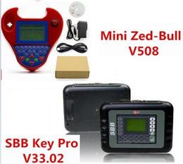 Wholesale Silca Sbb Programmer - 2018 new good SBB Silca V33.02 SBB Key Programmer + Smart Mini Zed-Bull V508 Zedbull Zed Bull Auto Key Transponder No Tokens Limited