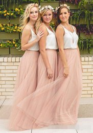 Wholesale Ruched Maxi Skirt - Under 50 Hot Cheap Bridesmaid Dresses Tulle Skirt Blush Prom Dresses Bridesmaid Maxi Skirt Evening Party Gowns
