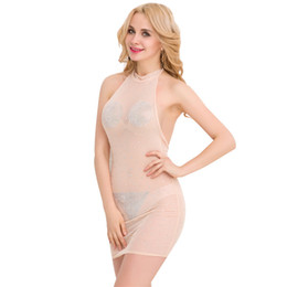 Wholesale Sexy Body Tight Dress - Foreign sexy tight Western perspective nightclub drain back bandage dress dress sexy dress hot body