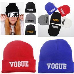 Wholesale Wholesale Wool Skully Hats - Fashion Cuffs Winter Beanie Hip-Hop Hat Gorro VOGUE Beanies Cap Women Knitted Wool Cap Winter Mens Skully Hats M0279