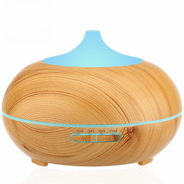 Wholesale Impeller Humidifier - 300ml Aroma Essential Oil Diffuser Wood Grain Ultrasonic Cool Mist Humidifier for Office Home Bedroom Living Room Study Yoga Spa