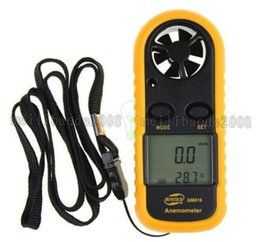 Wholesale Digital Thermometer Temperature Meter Gauge - GM816 1.4 Inch LCD Handheld Pocket Digital Anemometer Wind Speed Air Flow Meter & Temperature Gauge Thermometer free shipping MYY