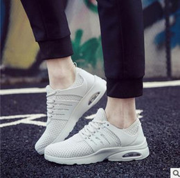 Wholesale Cotton Air Mesh - Spring New product Air cushion Mesh Breathable casual shoes Mens jogging shoes Walking Shoes Zapatillas Trainers Flats