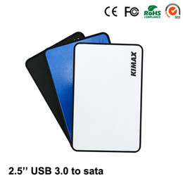 Wholesale mini laptop hdd - Wholesale- 2016 New Design Hdd Case Plastic Black White Blue Micro-mini Usb 3.0 To 2.5'' Inch Sata Up 1tb Suit 7mm 9.5mm Laptop Box