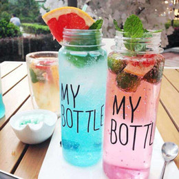 Wholesale Cloth Tea Bag - 500ml transparent plastic Hand warmer cup with Tea interval cloth bag Water Bottles easy to carry Large Capacity Tumblerful Mug wholesale
