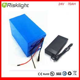Wholesale Electric Battery Storage - electric bike battery 24V 70Ah rechargeable lithium ion battery pack for ebike, storage energy or solar power and UPS+5A charge