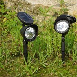 Wholesale Solar Control Lamp - LED Solar Lamps Waterproof IP55 Poratable LED Solar Garden Lamp 3 LED Outdoor Solar Powered Spotlight Easy to control 3*0.06w Leds Landscape