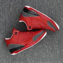 Wholesale Dj Canvas - 2017 Newest Air retro 3 x DJ Khaled Grateful Mens basketball shoes fire red top quality retro 3s Mens Sneakers eur 41-47