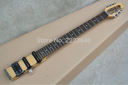 Wholesale Travel Electric Guitars - wholesale Free shipping Top quality MiniStar castar 6 strings Travel Electric Guitar Built in Headphone Amp