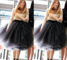Wholesale Plus Size Tutus For Adults - New Cheap Tyered Tea Length Women Bust Skirts All Colors Multilayer Long Length 2017 Adult Tutu Tulle Skirt A Line Plus Size Skirt For Wome