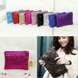 Wholesale Women Wallet Fashion Style Sparkle - Newest Fashion Dazzling Glitter Sparkling Bling Sequins Evening Party purse Bag Handbag Women Clutch wallet