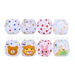 Wholesale Diapers Can - Baby waterproof breathable diaper pocket can be reused to wash the baby cloth diapers m antibacterial baby diapers cute cartoon diaper