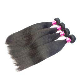 10 pcs / lot Péruvienne Vierge Cheveux Raides Weaves 1B Naturel Noir Brésilien Remy Extensions de Cheveux Humains Doux Indien Droite cheveux trame ? partir de fabricateur