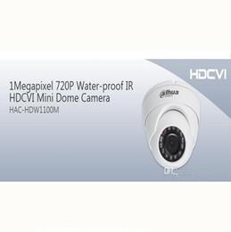 Wholesale Mini Lens Fixed - Wholesale DAHUA HDCVI Dome Camera 1MP 720P Mini IR HDCVI Camera IP66 with Fixed Lens 20M IR Distance HAC-HDW1100M