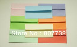 Wholesale Ivory Purple Wedding Invitations - Wholesale-220*110mm (DL) Colored Envelope, Plain,120g, Red, Purple, Blue, Orange, Ivory, Pink, Green. Wedding, Company Invitation