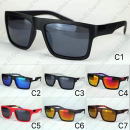 2019 lunettes de soleil lentilles réfléchissantes 7 couleurs lunettes de soleil sport le Danx vente chaude lunettes de conduite lentilles réfléchissantes à l'intérieur des temples impression en gros lunettes de soleil renard lunettes de soleil lentilles réfléchissantes pas cher