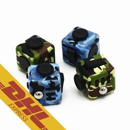 Wholesale Camouflage Toys - Camo Fidget Cube Wholesale EDC Magic Cubes Camouflage Fidget Cube ADHD 4 Colors Fidget Cube Novelty Decompression Toys